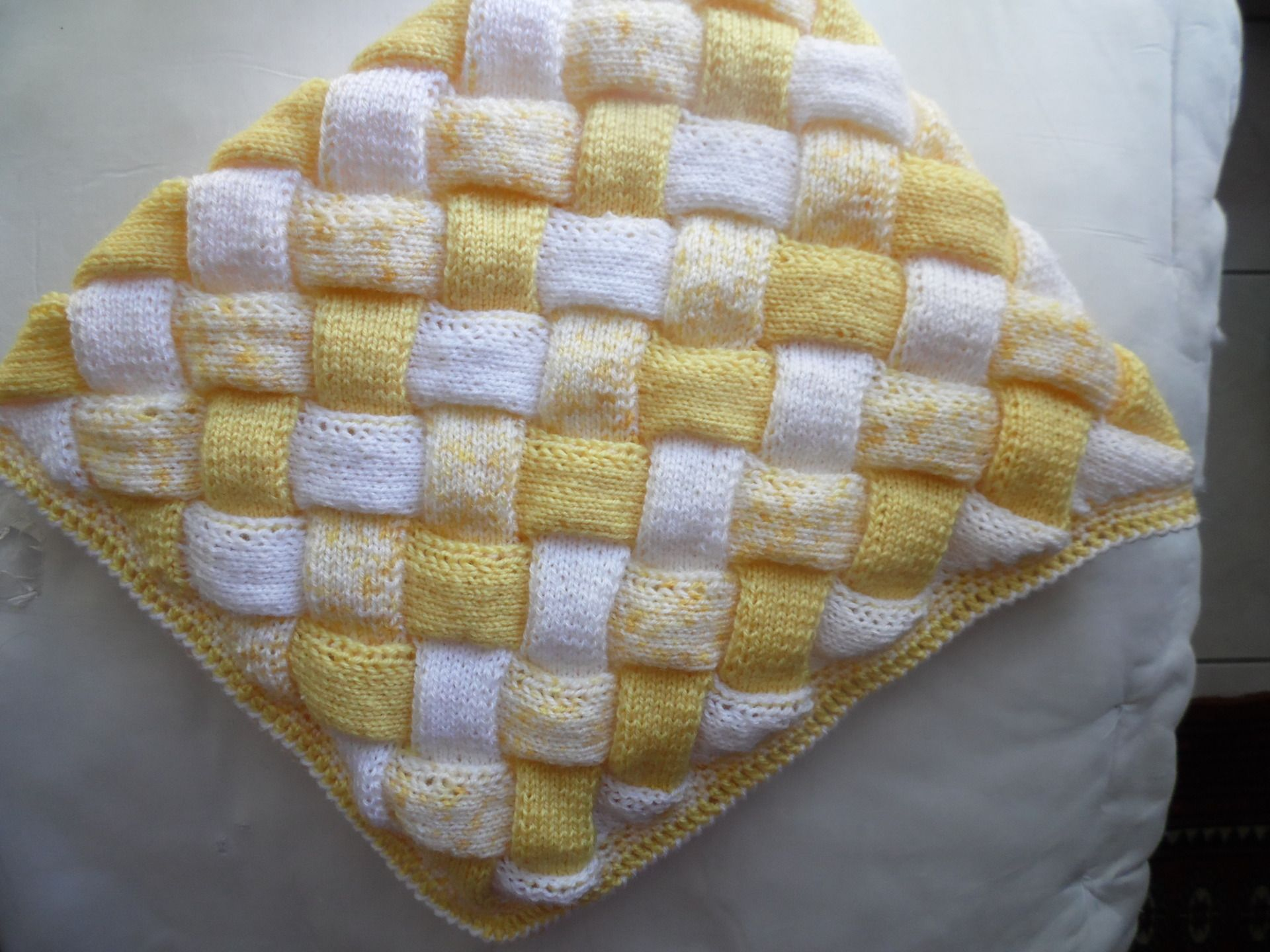 patron tricot entrelac