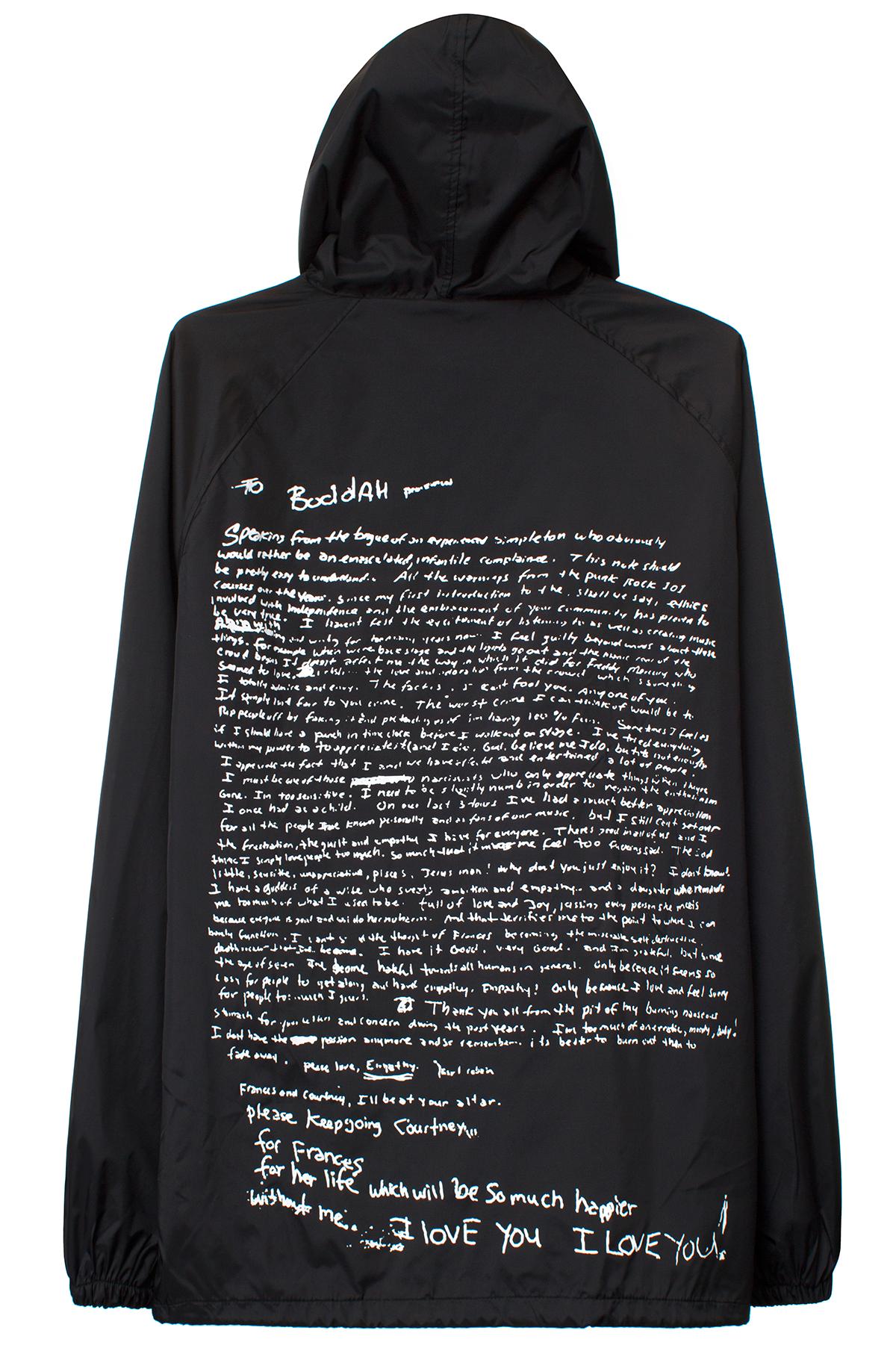 Pleasures Black Cobain Suicide Note Coaches Jacket Black Nylon