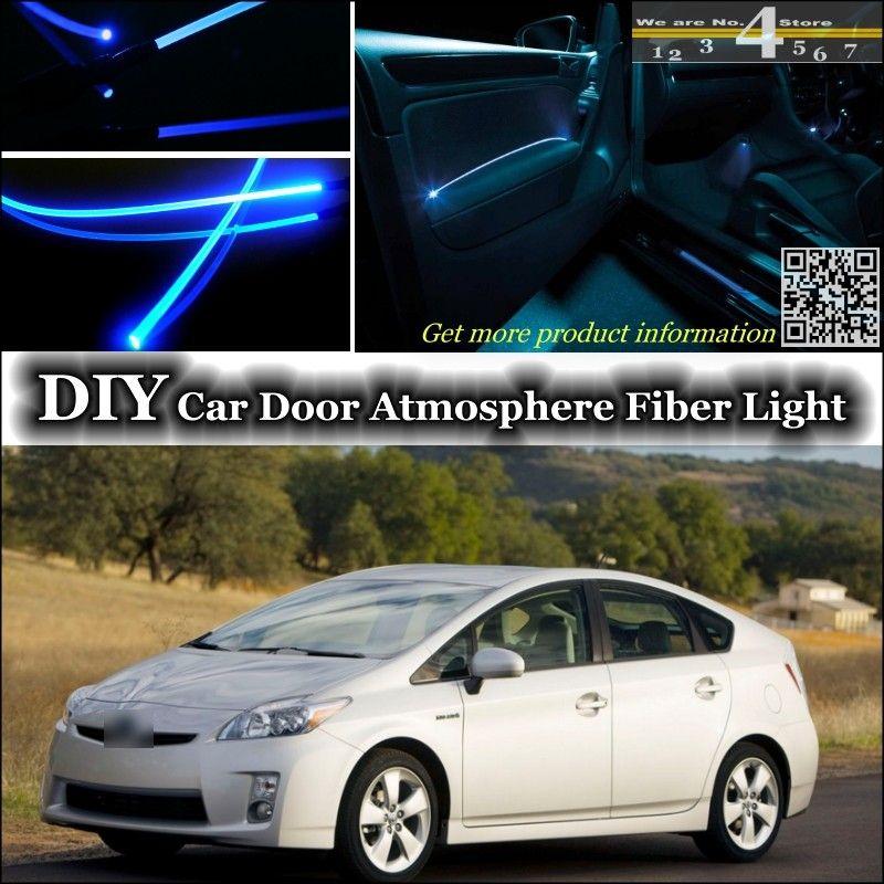 For Toyota Prius Xw20 Xw30 Interior Ambient Light Tuning Atmosphere Fiber Optic Band Lights Inside Door Panel Illumination Refit Car Lights Refit Toyota Prius