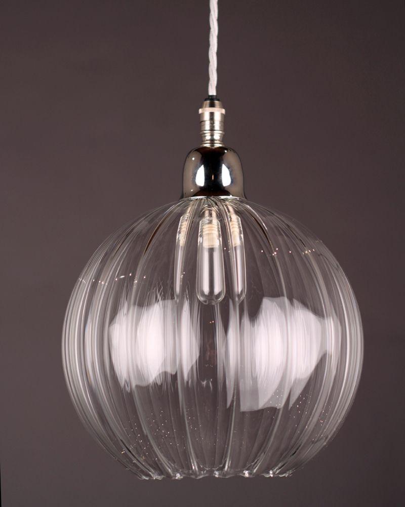 Merveilleux Hereford Ribbed Glass Globe Bathroom Pendant Light Fritzfryer