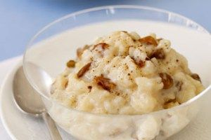 Rice pudding is a great dessert for anytime.