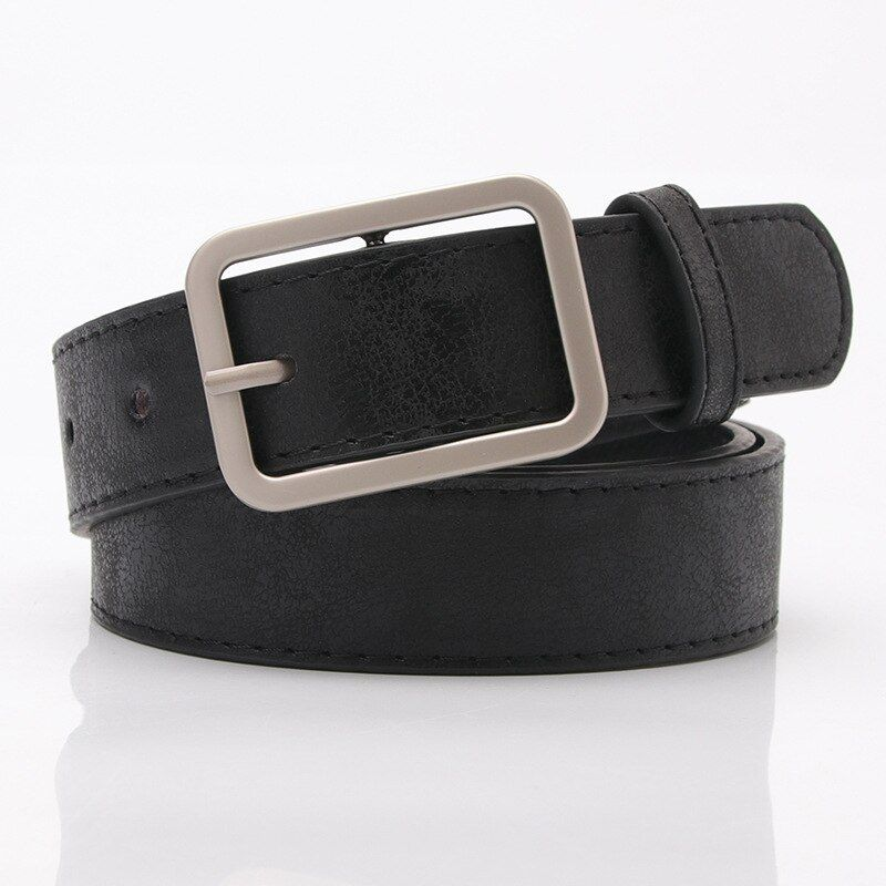 Explosion Korean Version Of The Wild Lady Belt Shiny Pu Alloy Buckle Belt Jeans Decorative Belt In 2020 Belts For Women Black Leather Belt Summer Belt