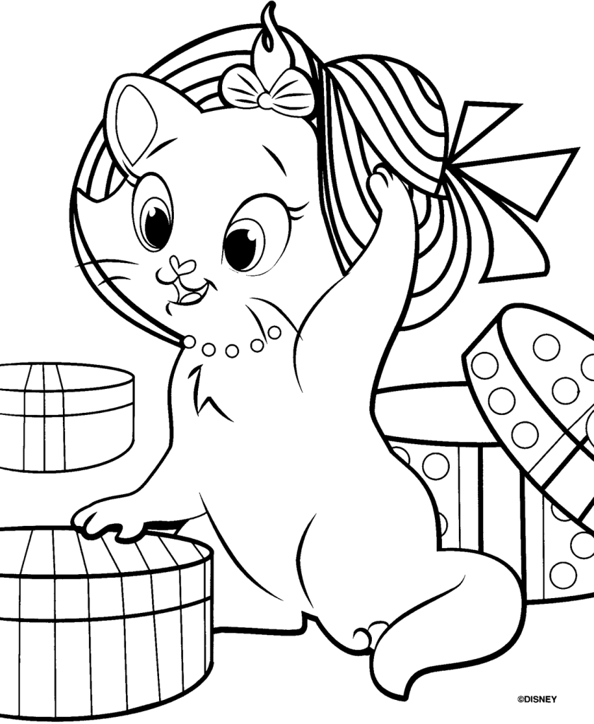 Free coloring pages by mail - Awesome Aristocats Coloring Pages