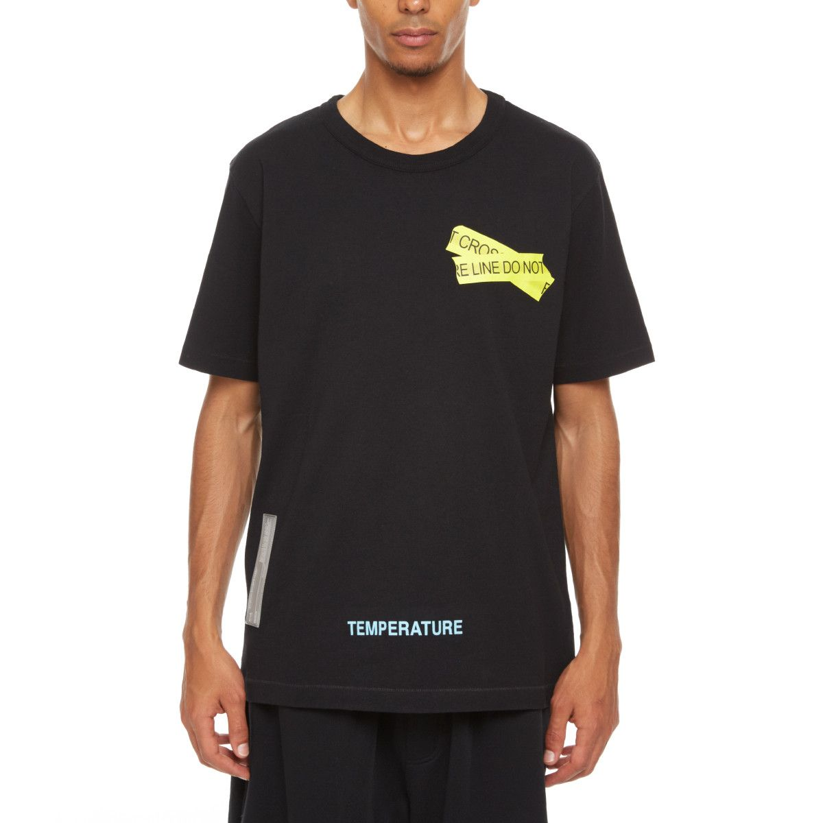 ee3b8f5d Firetape t-shirt from the S/S2018 Off-White c/o Virgil Abloh collection in  black