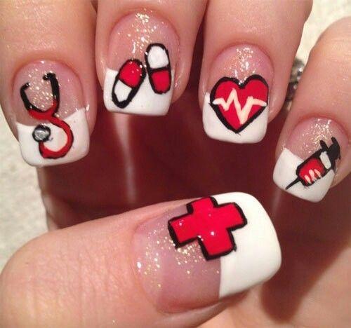 Pharmacy Nails Nurse Nails Nail Art Designs Nail Designs