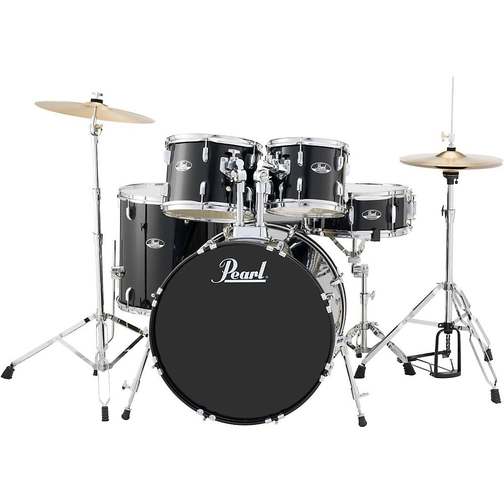 pearl roadshow 5 piece new fusion drum set jet black products pearl drums best drums. Black Bedroom Furniture Sets. Home Design Ideas