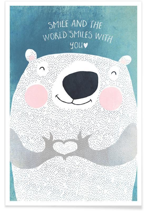 Smile von treechild als Premium Poster Jetzt online kaufen