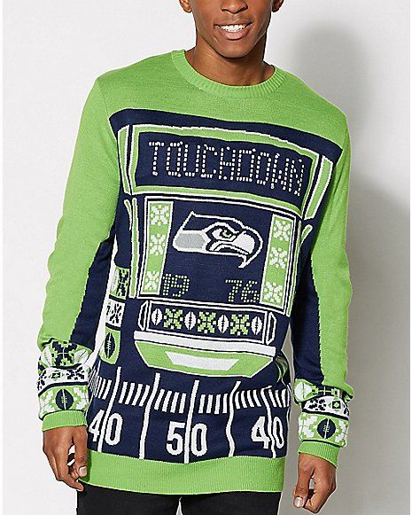 online store 62e33 3cefd NFL Seattle Seahawks Light Up Sweater - Spencer's | Seahawks ...