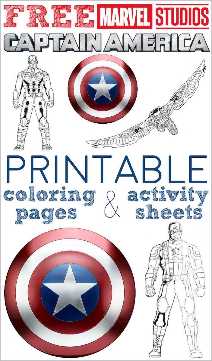 Lots Of Free Printable Captain America Coloring Pages And Activity Sheets Captain America Coloring Pages Captain America Printables Captain America Birthday