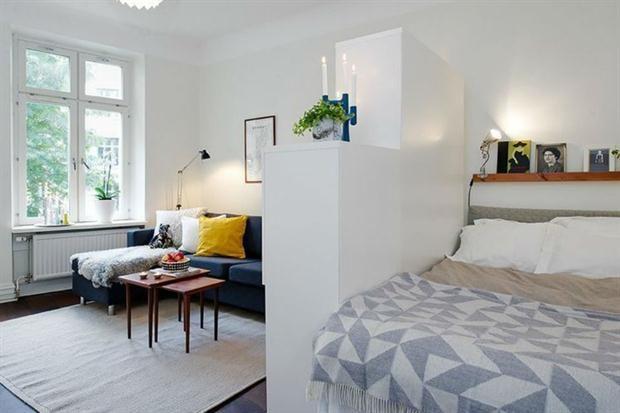 Soluci n 288  consejos para dividir un monoambienteSoluci n 288  consejos para dividir un monoambiente   Consejos  . Revista Living Decoracion Monoambientes. Home Design Ideas