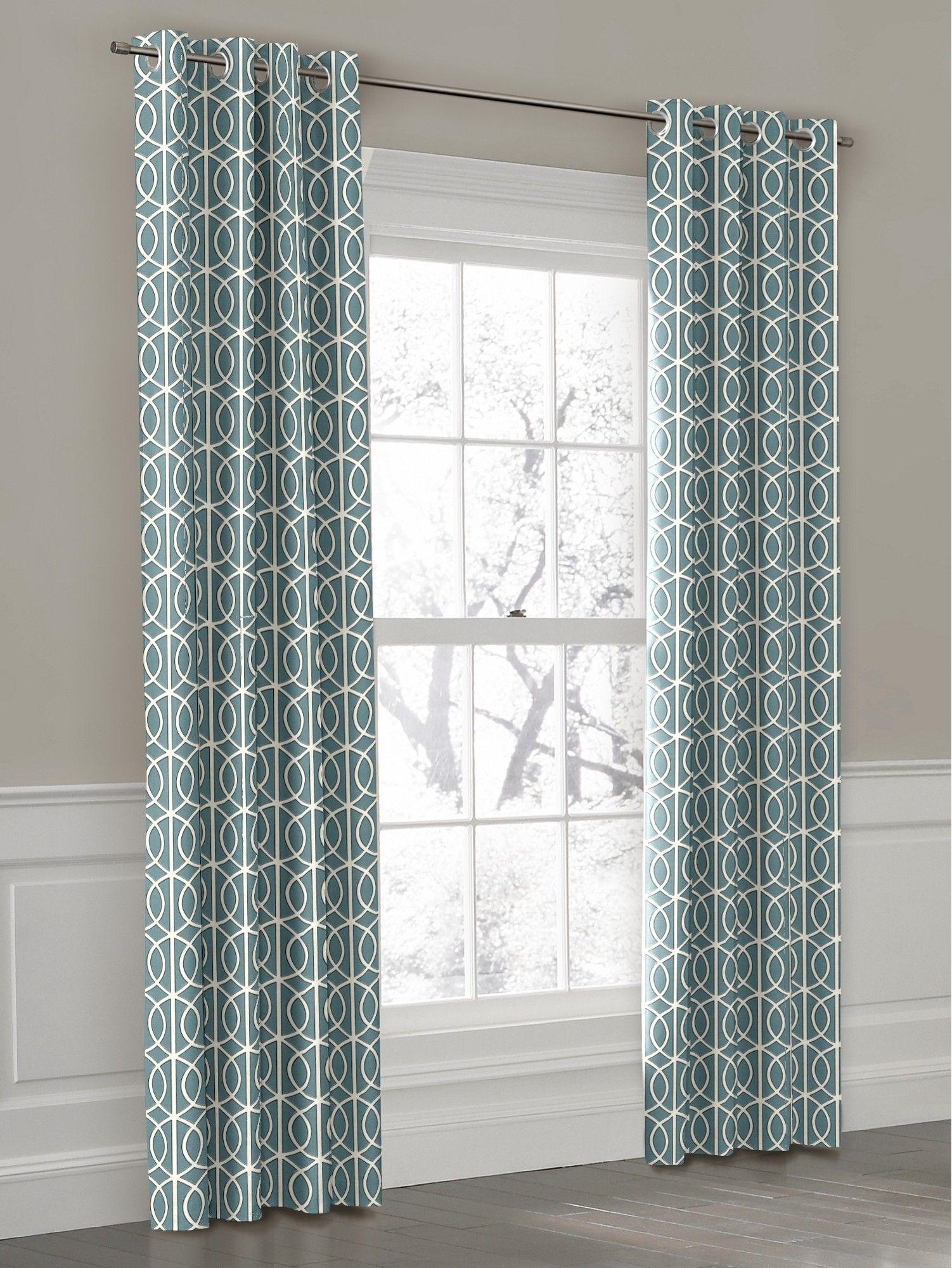 drapes refreshing curtains whitegreen polyester white geometric green p