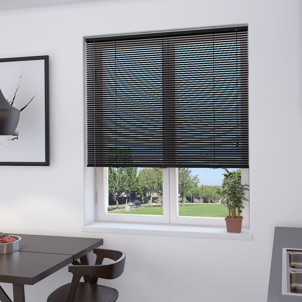 Aluminum slats for 25mm venetian shutters buy aluminium - Black 25mm Aluminium Venetian Blind Make My Blinds