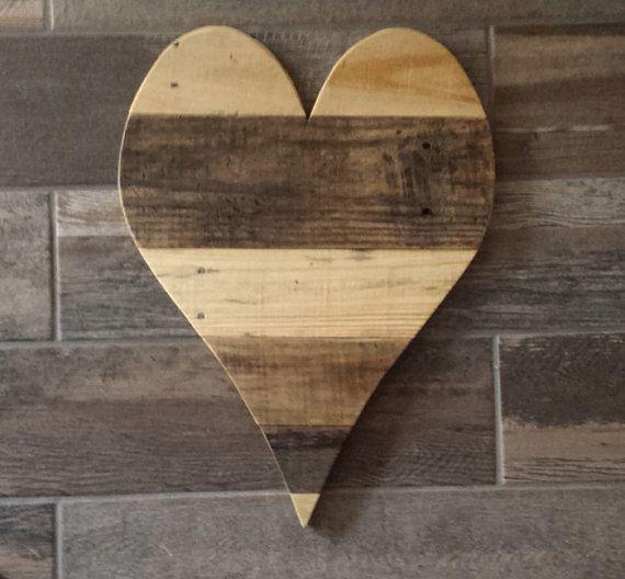 Large Wood Heart Valentine Heart 20 Wood Heart Reclaimed Pallet Wood Heart Rustic Wedding Decor Love Pallet Wall Art Nursery Decor Bff Gift Reclaimed Pallet Wood Rustic Wall Decor Large Wood