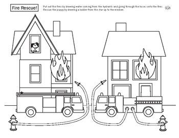 Fire Truck Rescue Fire trucks and Worksheets