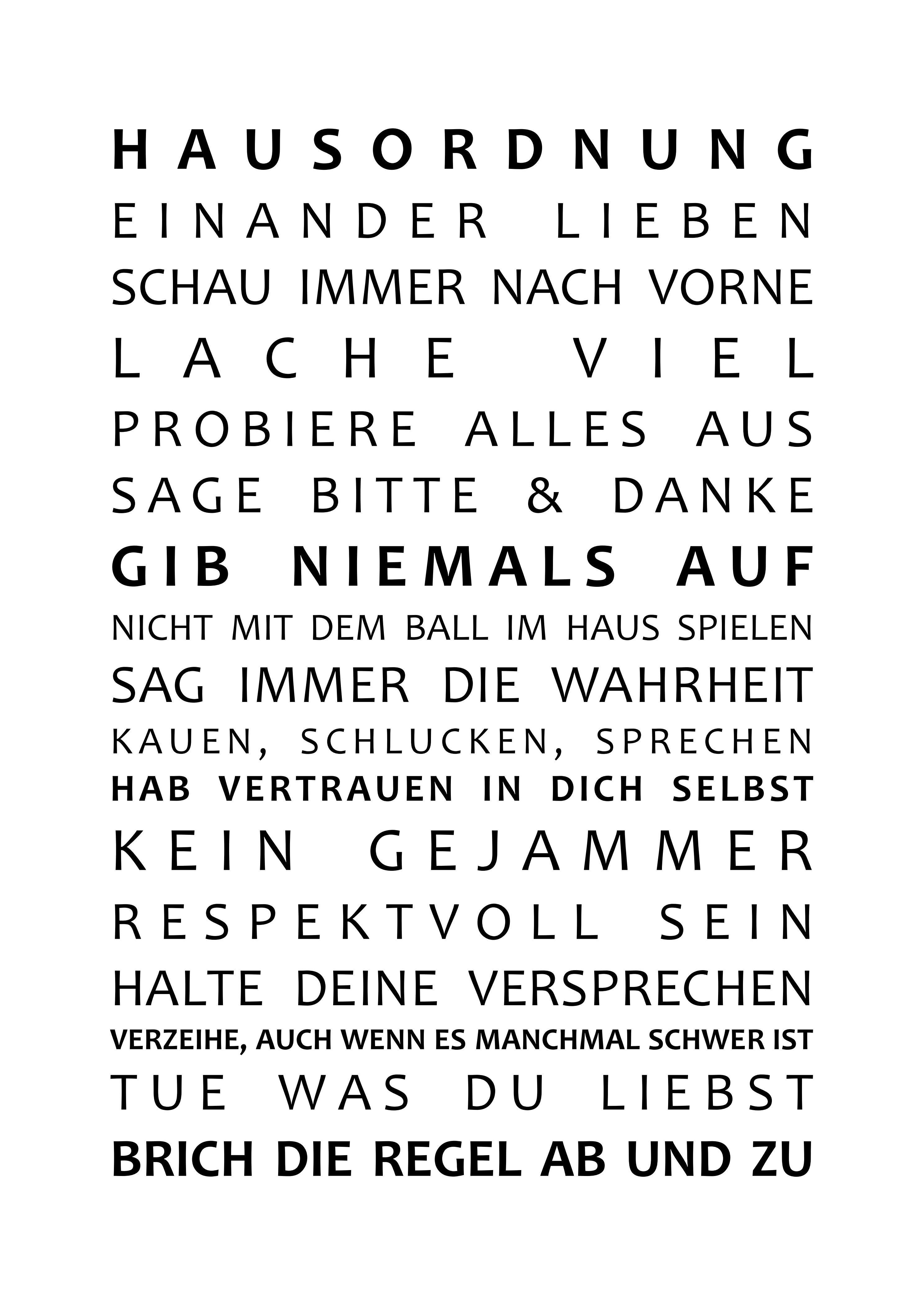 Hausordnung Bild Spruche Regeln Diy Poster Hausordnung Weisheiten Diy Poster