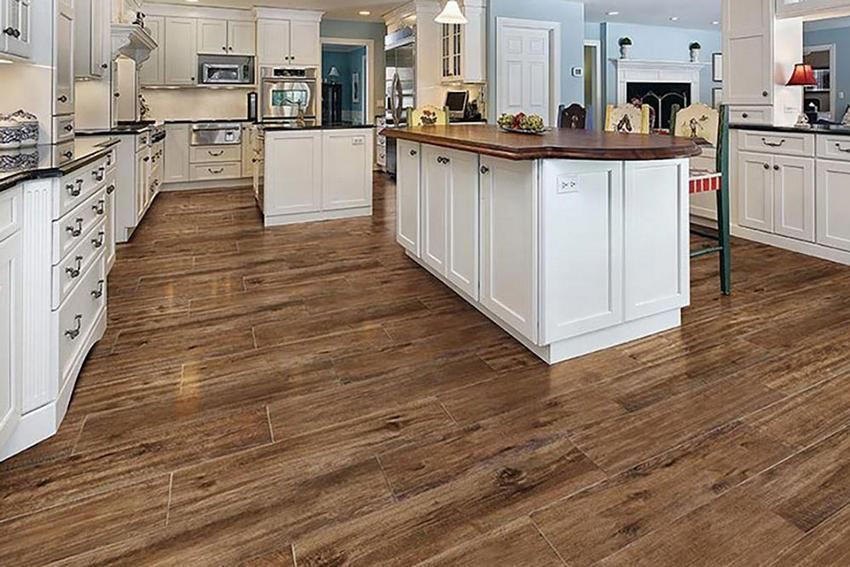 Wood Look Tile With Both Espresso And Honey Oak Tones House