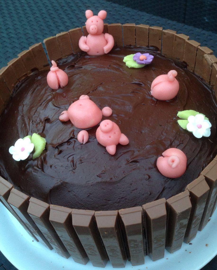 Ma marre aux cochons ! Un bon bain de chocolat !!! Le rêve !