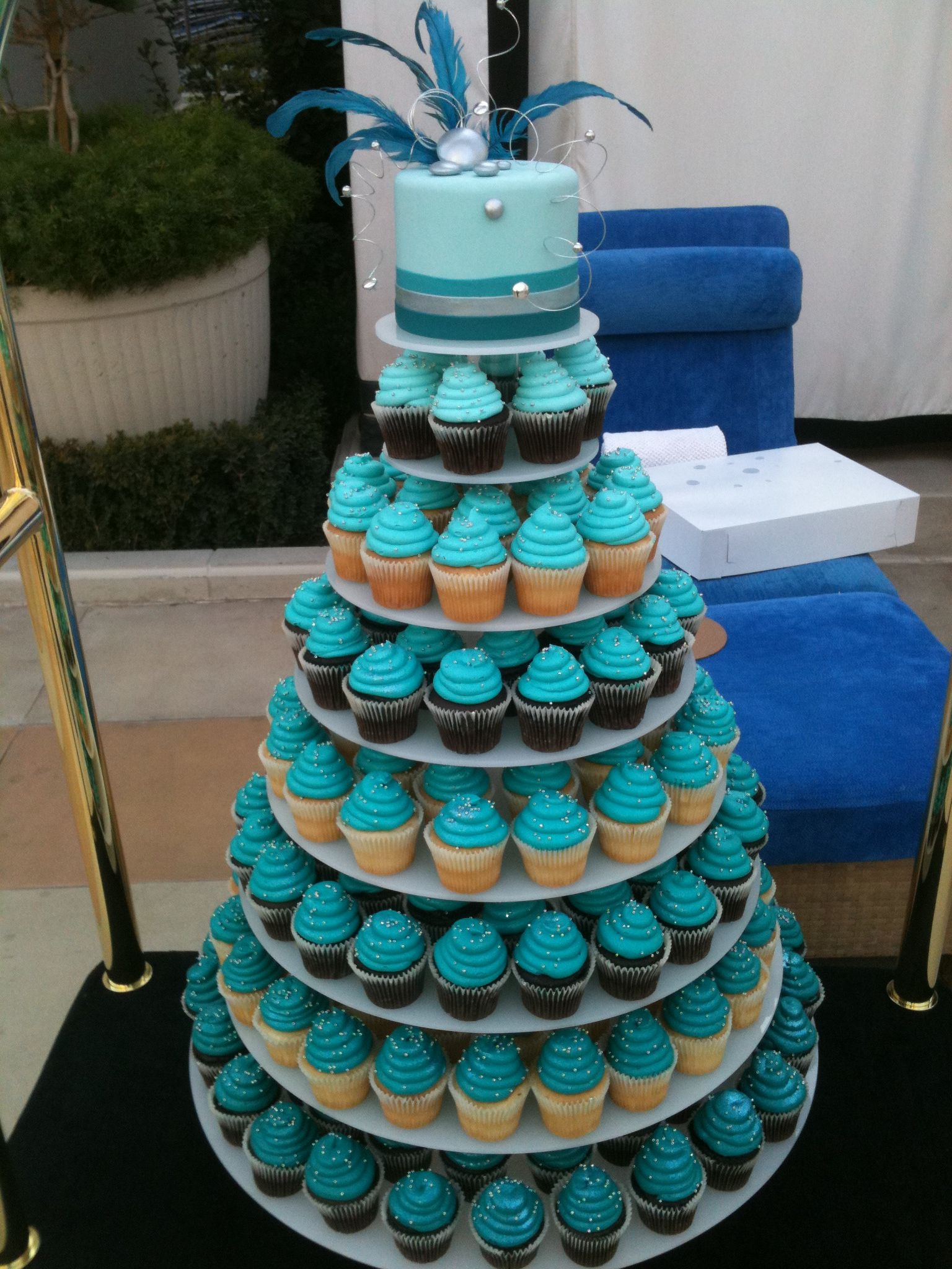 Cupcake Tower By Las Vegas Custom Cakes Disney Cupcakes Dog Unicorn