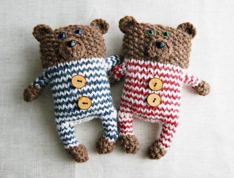 Photo of Knitting Instructions – PDF Knitting Instructions Teddy Bear – a designer piece by yarn -…
