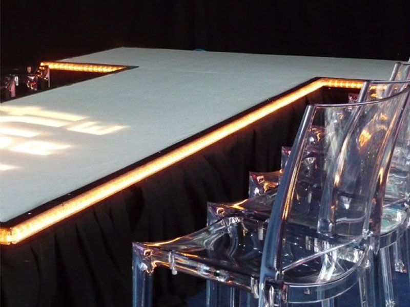 White Dance Floor Hire for Events