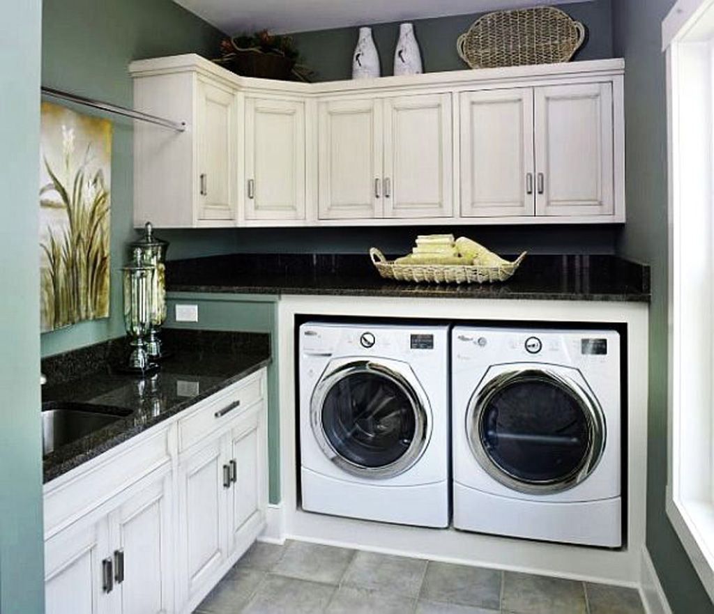 Delightful Laundry Room Ideas   Not Sure About The U0027raisedu0027 Platform For The  Washer/dryer. Though I Do Like The Idea Of A U0027toekicku0027 There   Where The  U0027businessu0027 Ends ...