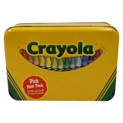 Crayola Tin Crayon Holder Fits 64 Crayons Benton