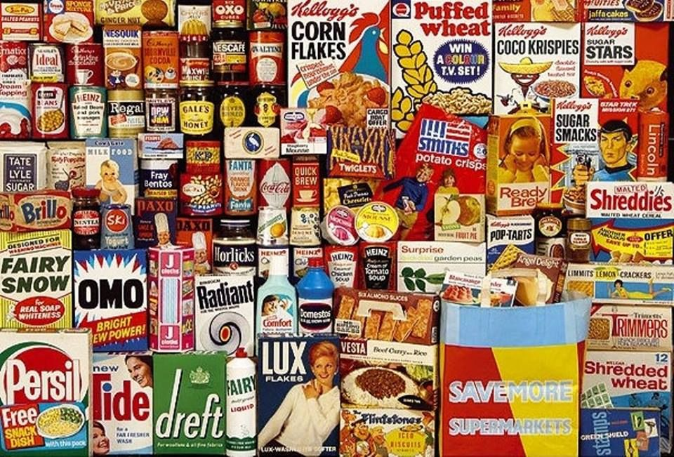 English Groceries With Images Shopping Basket Horlicks 60s Food