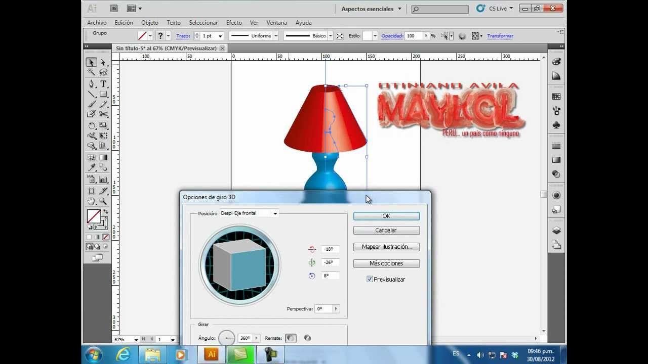 Illustrator 3d Girar Diseño De Una Lámpara Disenos De Unas Diseños De Uñas Lámpara