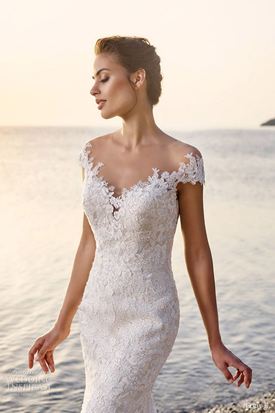 Eddy K 2017 Wedding Dresses Dreams Bridal Collection Wedding Inspirasi Tulle Wedding Gown Sheath Wedding Dress Lace Wedding Dresses Lace [ 1350 x 900 Pixel ]