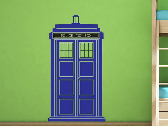 Dr. Who Tardis Police Call Box - Vinyl Wall Decal by Wall Jems Wall Decals