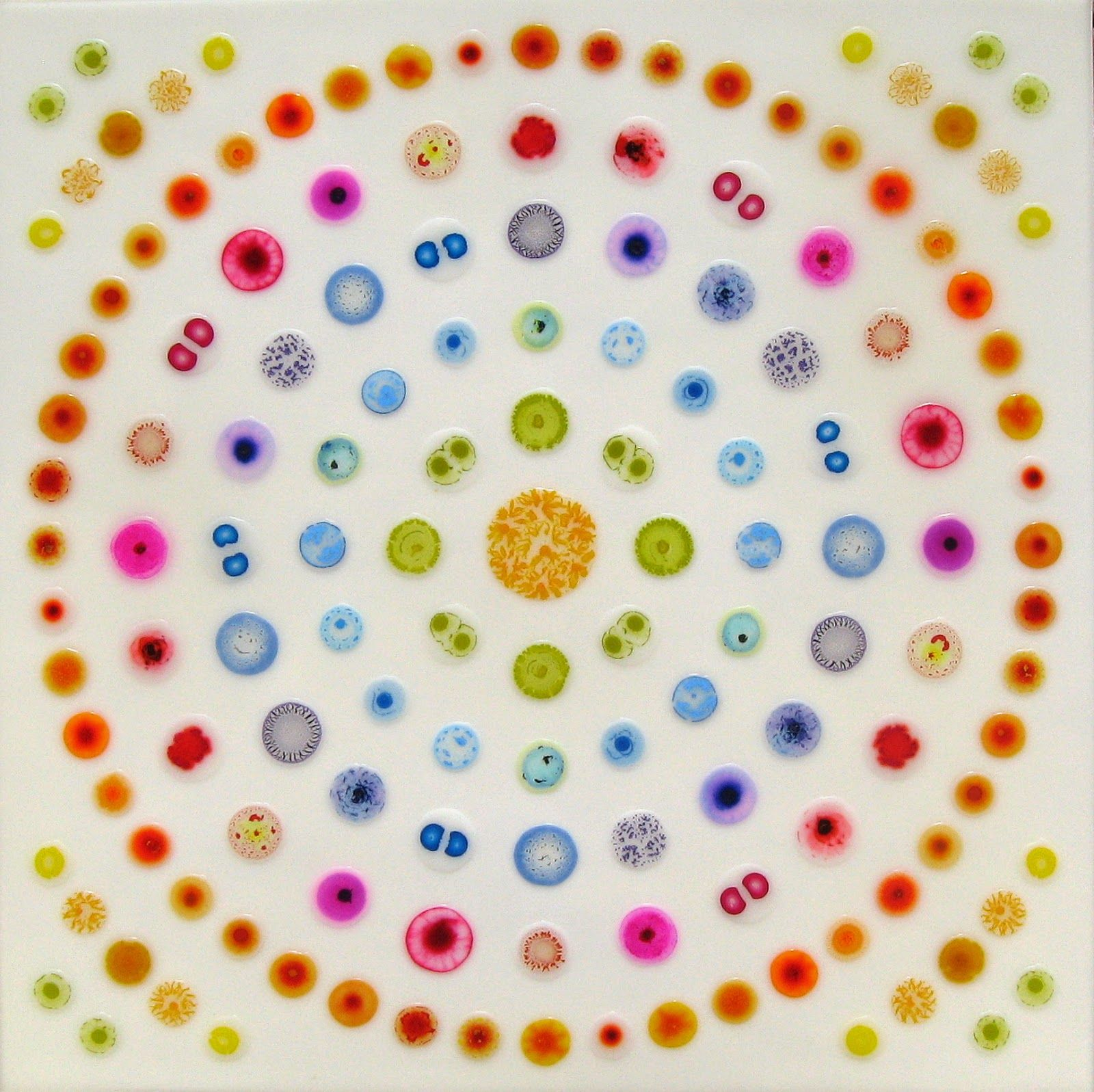 William Loveless Glue Paintings Concentric Strategy