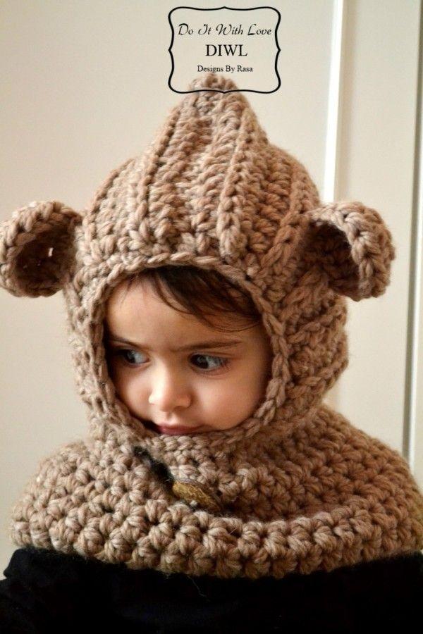 Schal Mütze Haube Im Teddy Look Mit Süßen öhrchen Selber Häkeln