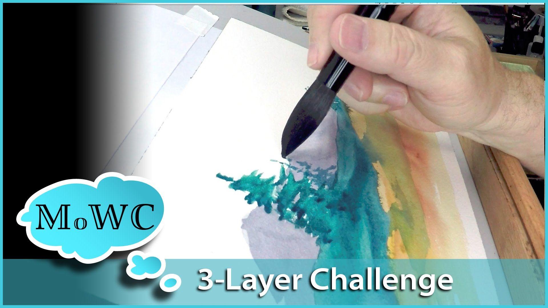 3 Layer Watercolor Landscape Challenge