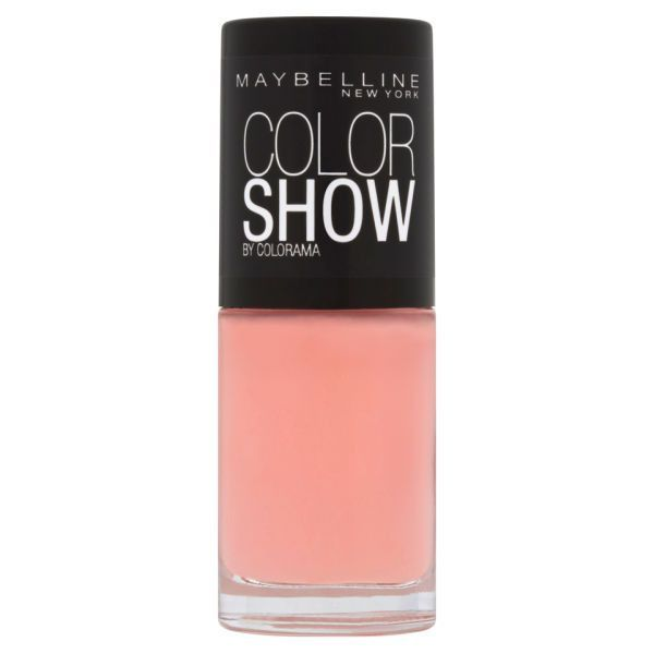 New York Color Show Nail Lacquer - 93 Peach Smoothie 7ml ($4.54) ❤ liked on Polyvore featuring beauty products, nail care, nail polish, makeup, beauty, nails, peach nail polish, maybelline, maybelline nail polish and peach nail color