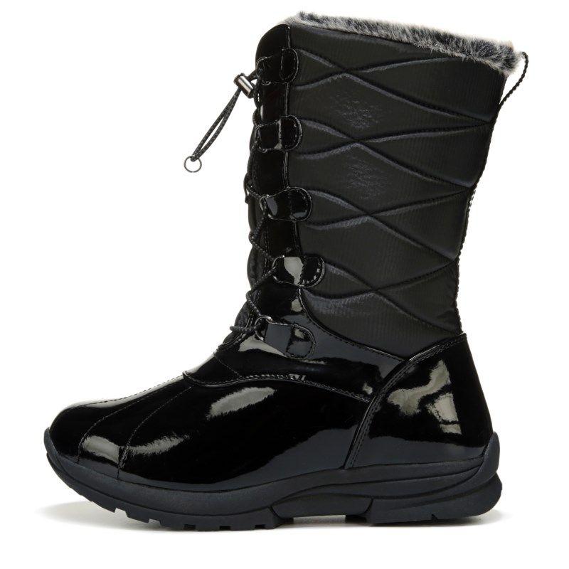 Khombu Kids' Kimmie Waterproof Winter Boot Pre/Grade School Boots (Black) -