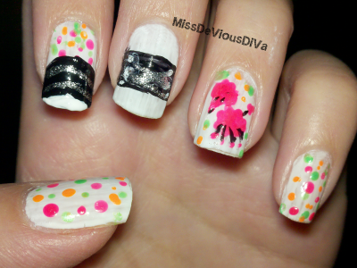 Miss DeVious DiVa: 1950's Inspired Nails #nailart