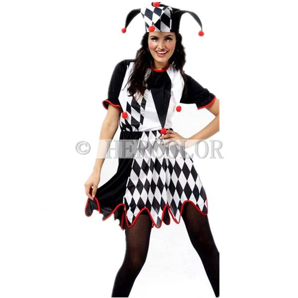 harlequin jester clown circus costume hat halloween adult funny - Halloween Costumes Harlequin