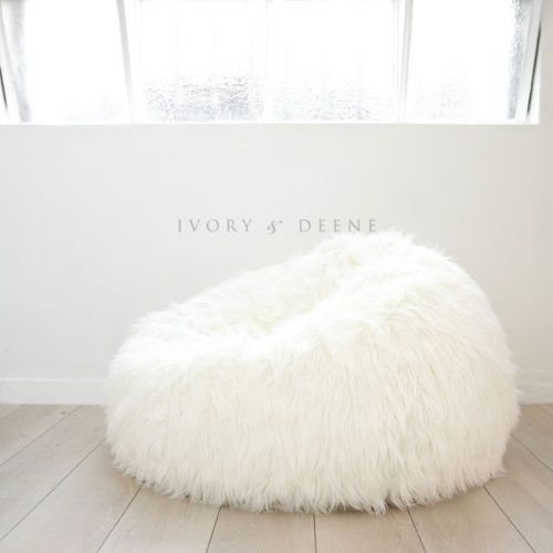 Top Of The Range SUPER LUXE FUR BEANBAG  Home Design Ideas