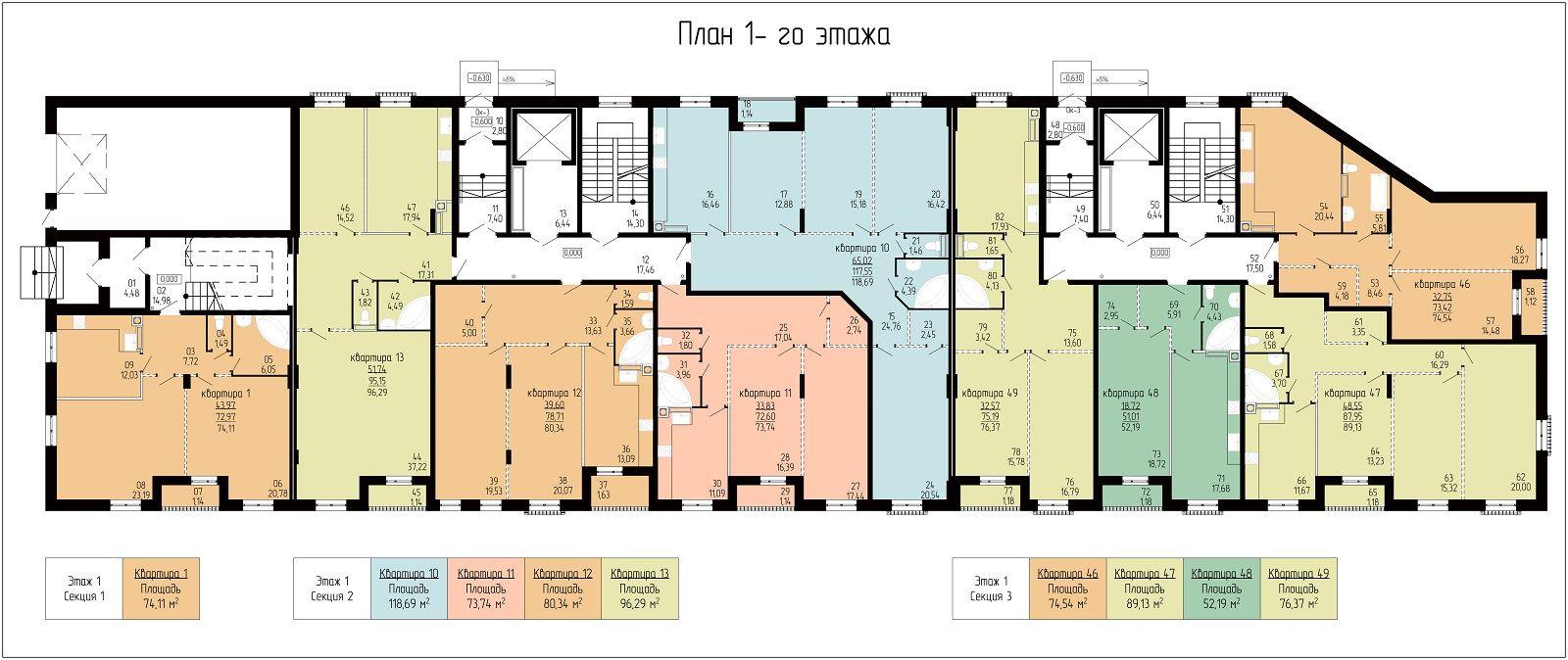 Планировка квартир в доме по адресу