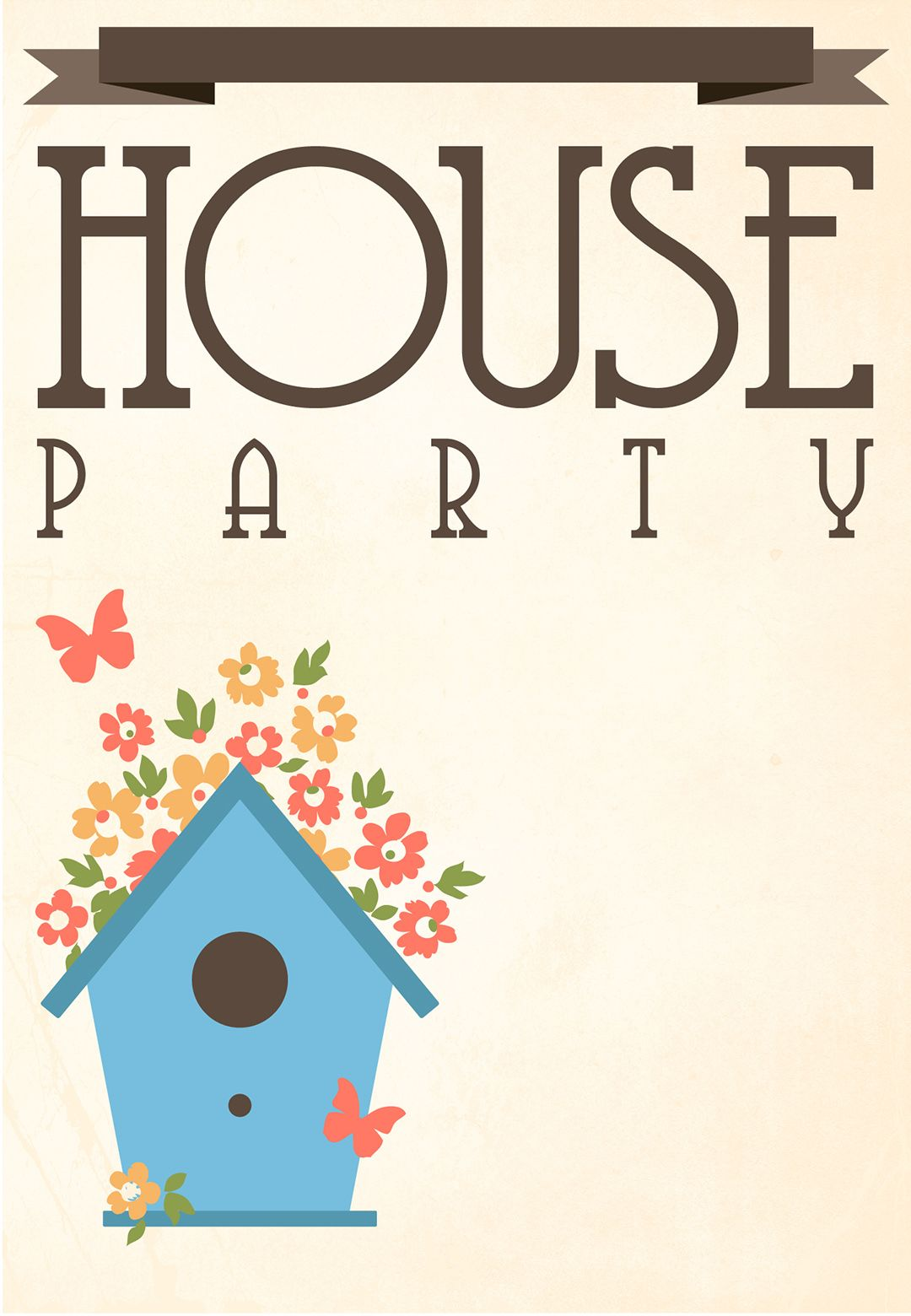 Free Printable House Party Invitation Fonts Printables Templates