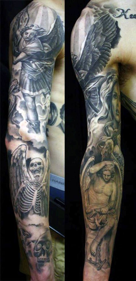 Angel Tattoo Design Ideas For Guys Tatouages Religieux Tatouage