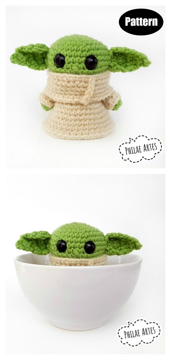 Star Wars Yoda Crochet Patterns #crochethooks