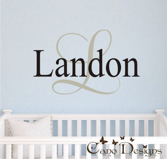 Monogram Name Vinyl Wall Art Initial And Name Vinyl Decal - Custom removable vinyl decals
