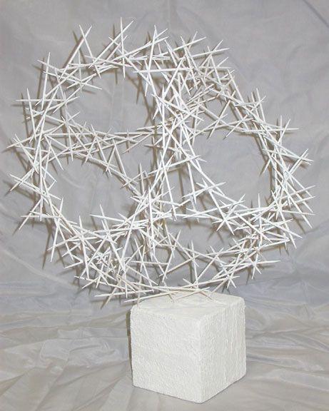 Art Lesson Plan Linear Toothpick Sculpture Toothpick Sculpture Sculpture Lessons Art Classroom