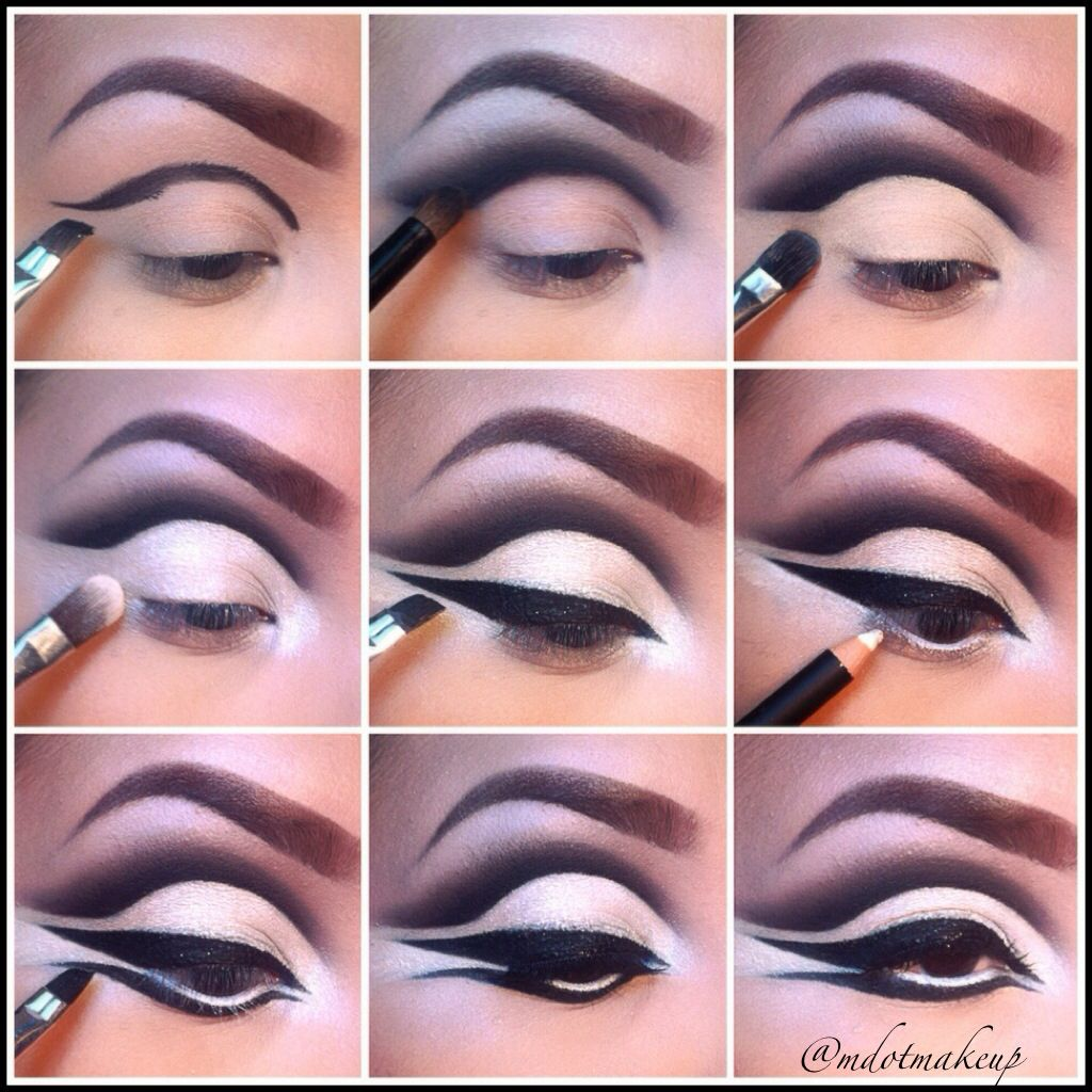 •Create a line above your crease w/ gel liner (MAC Black