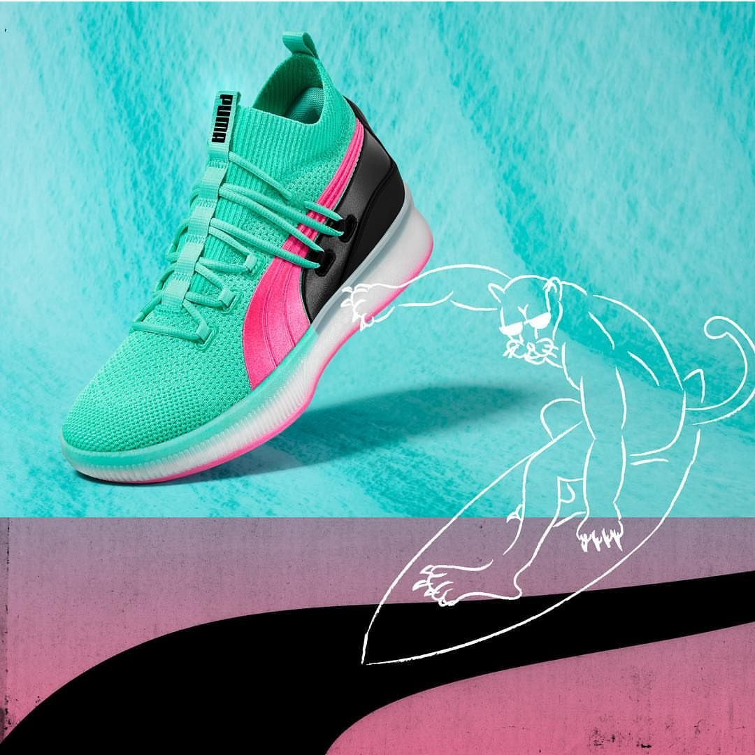 cheap for discount e9b7d a96d5 Puma Clyde Court Ocean Drive | Sneakers | Sneakers, Sneakers ...