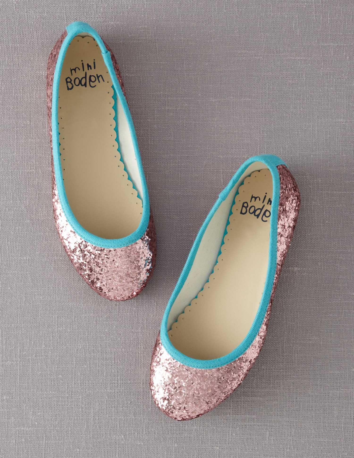Glitter mini ballerinas from Mini Boden! Glitter mini ballerinas from Mini  Boden! Little Girl Shoes ... d6c9ae73fe42