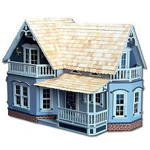 """Magnolia Dollhouse; Would make an awesome """"haunted"""" house with a little paint & mini Halloween/gothic décor :)"""