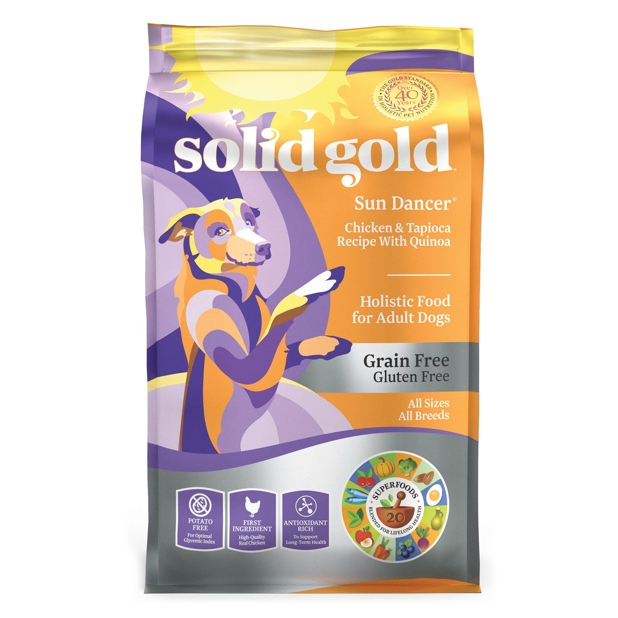 Solid Gold Sun Dancer Adult Dog Food Grain Free Gluten Free