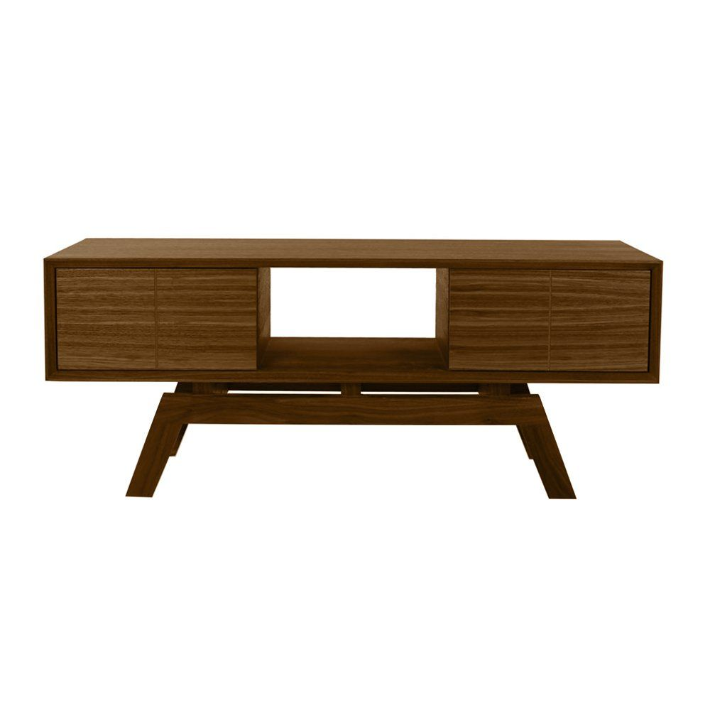 Fusion Living Danish Medium Walnut Media Unit Small Tv Unit b8b7c5c22142